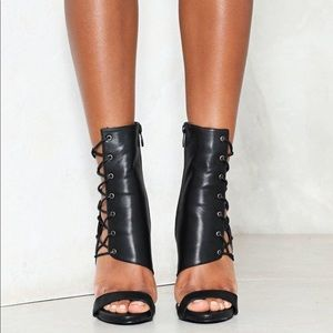 Nasty Gal Dusk to Dawn Faux Leather Heels